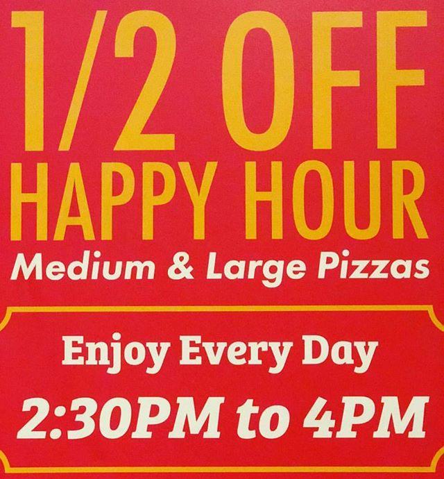 Beat the Heat with Our 1/2 Off Happy Hour!  #pizzamizza #halfoff #happyhour #bestpizzaintown #bestpizza #imnotcookingtonight