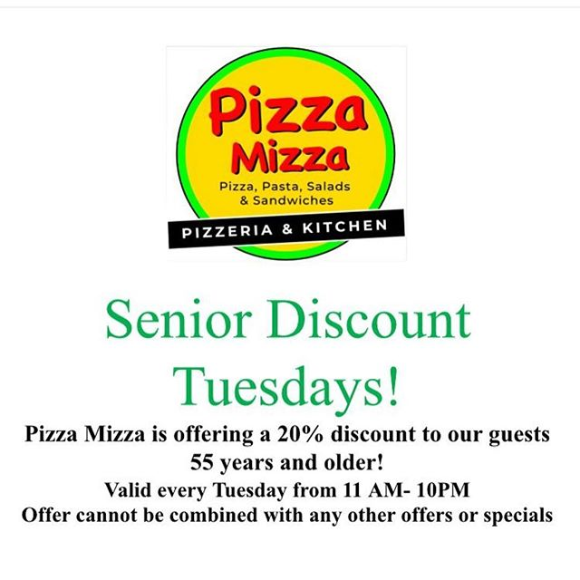 Happy Tuesday!  Don't forget we are making dinner tonight! #seniordiscount #pizzamizza #bestpizzaintown🍕 #pizza #santabarbara