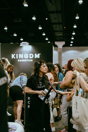 Olivia Alexander at LA BeautyCon 2019 in Kush Queen booth.