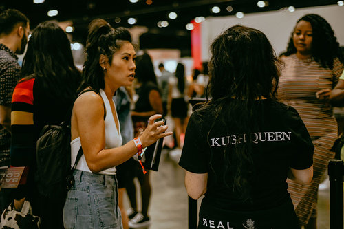 Kush Queen booth at LA BeautyCon 2019.