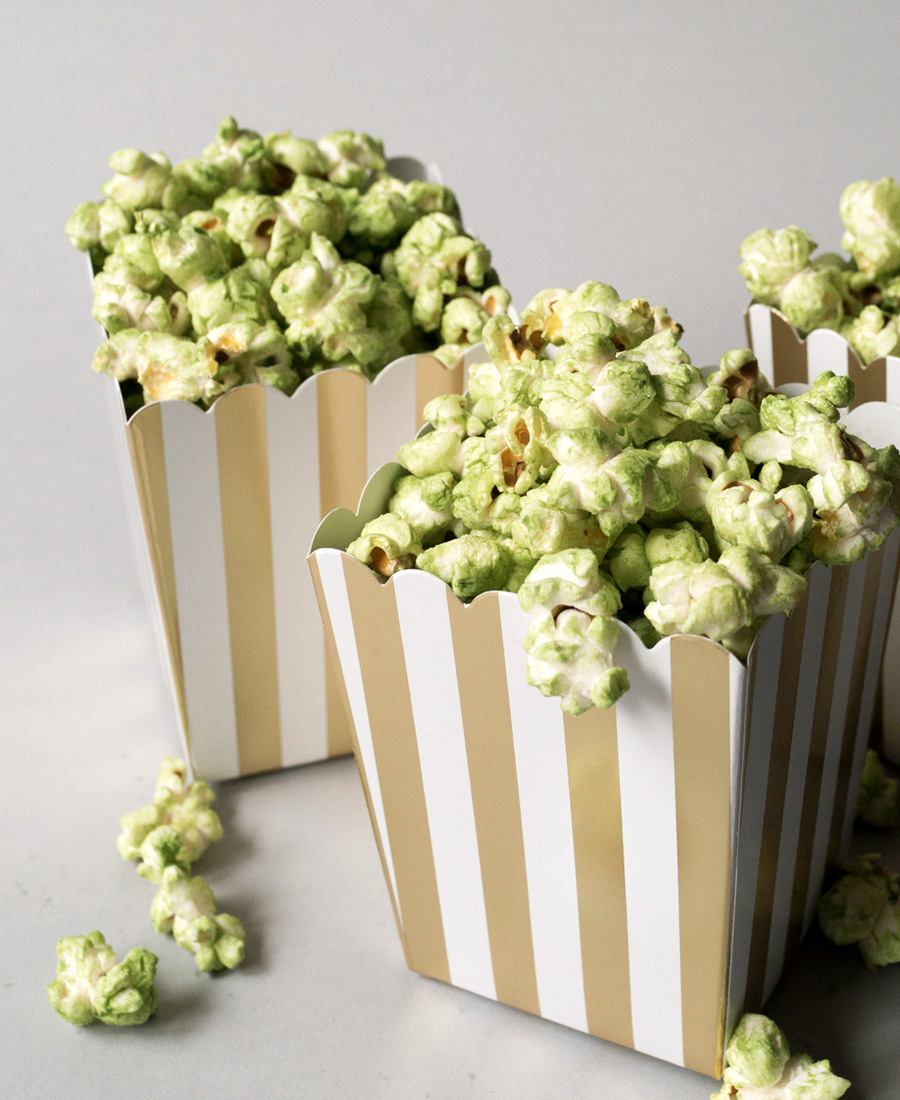 Matcha Tea Inspired Popcorn