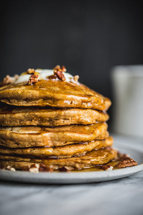Chai Spiced Sweet Potato Pancakes