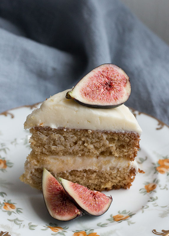 Earl Grey Cake with Honey Cream Cheese Frosting