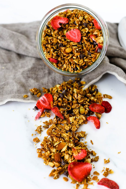 Earl Grey Granola with Strawberries