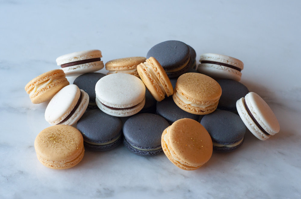 Black White Gold Macarons.jpg