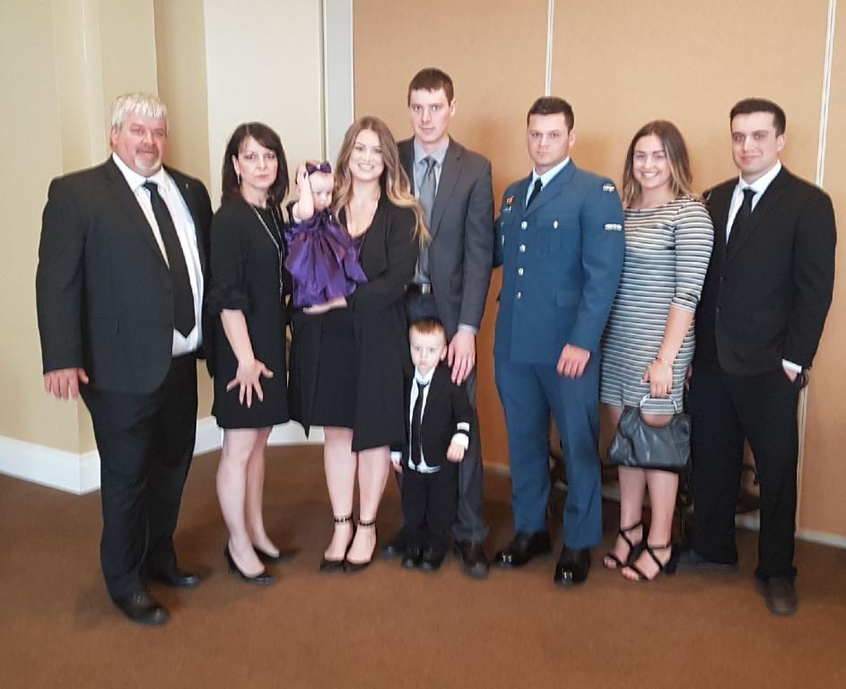 Left to Right: My dad, my mom, Bree, myself, Jase, Kev, Chad, Ryann (Zach's girlfriend), Zach