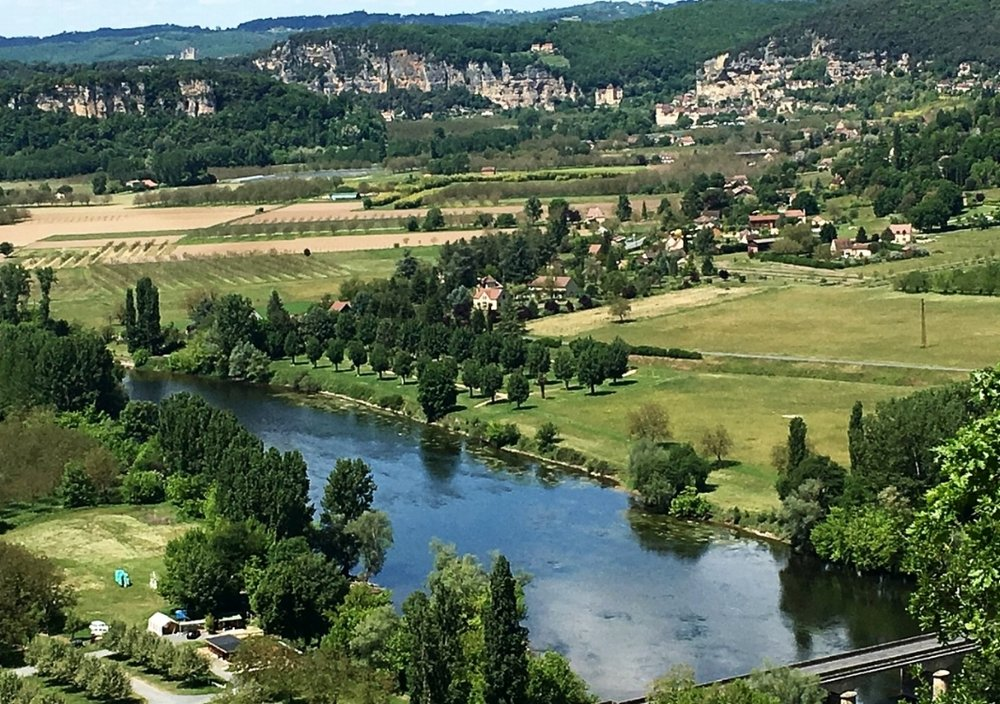 The Dordogne river near Sarlat, France.
