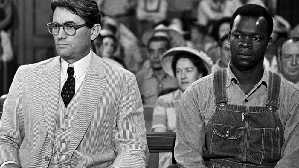 In the foreground: Gregory Peck and Brock Peters in  To Kill a Mockingbird