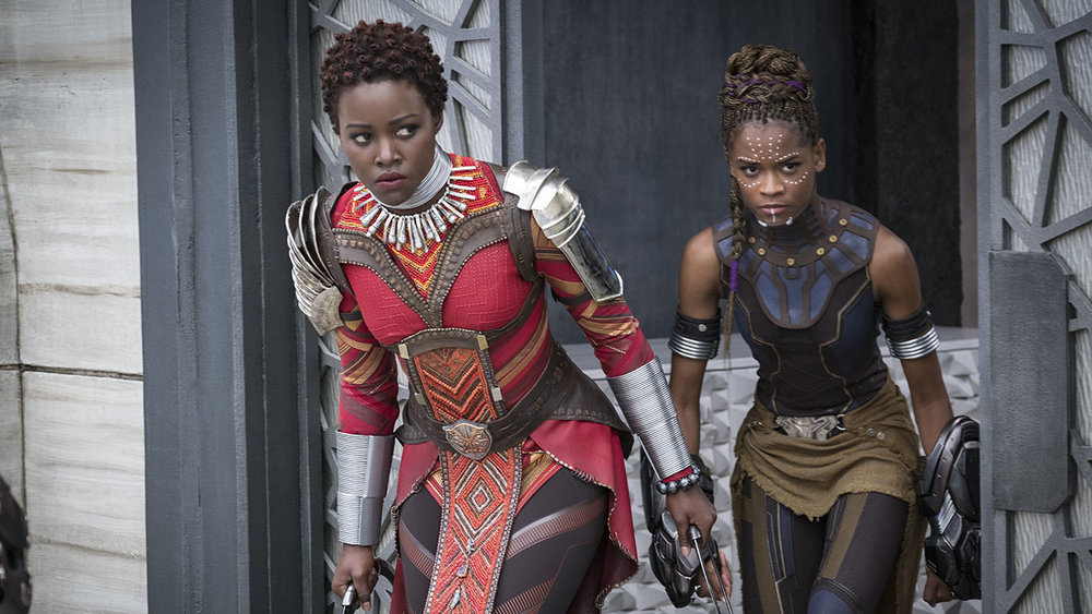 Lupita Wyong'o and Letitia Wright