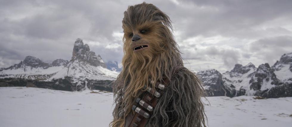 Joonas Suotamo as Chewbacca in  Solo: A Star Wars Story