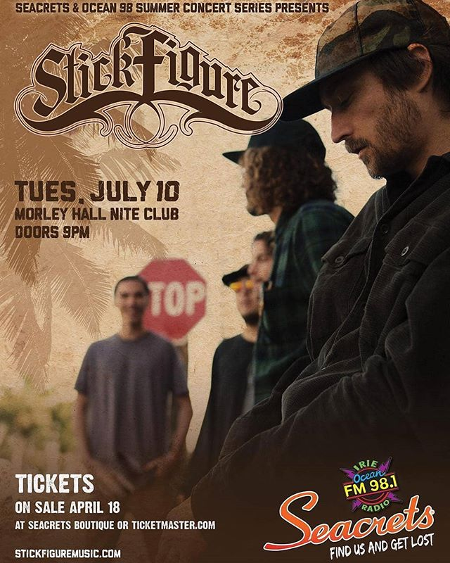 #Repost @ineffablemusic 🔸#Repost from @stickfiguremusic #doublerepost ・・・ Playing a special headline show at @seacretsusa in Ocean City, MD July 10th.  Tickets at stickfiguremusic.com