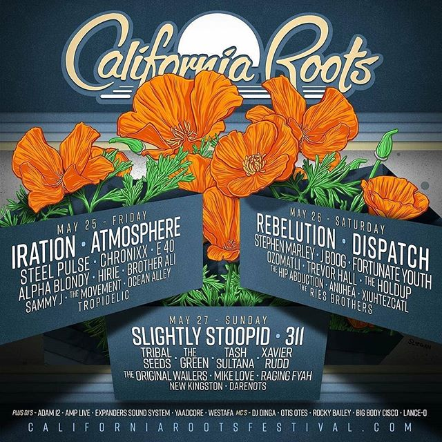 The final line up for the 2018 @calirootsfest  #itsamovement #stillusethathashtag? #reggae #love #caliroots