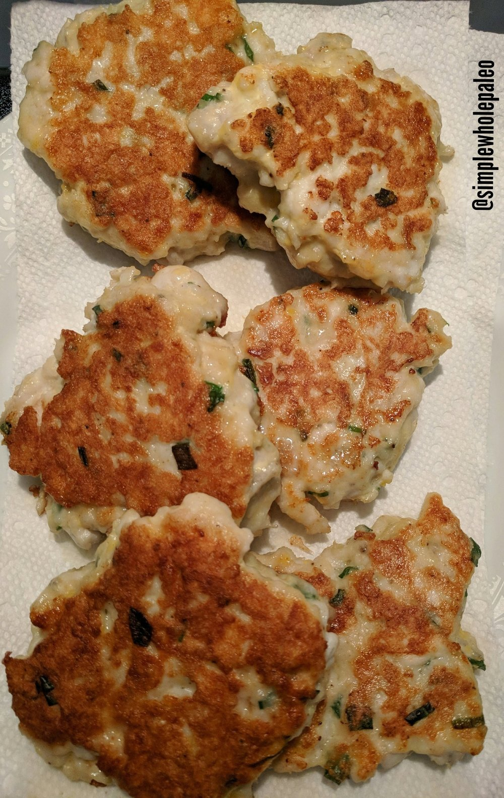 Oio fish cakes, Whole30 style