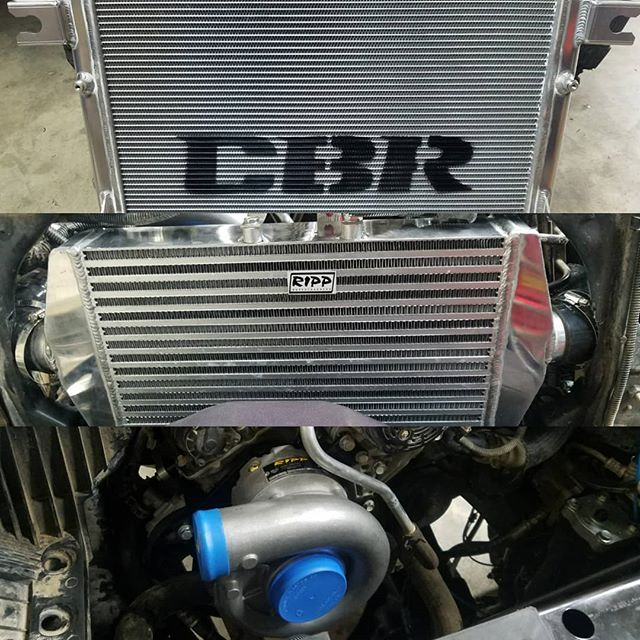 O yea, this is going down. #cbrradiators #rippsuperchargers #jeep #jku