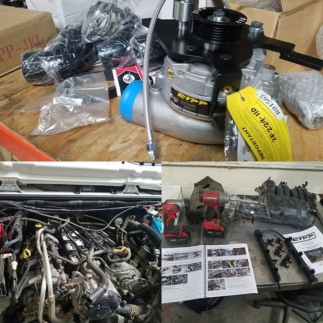 Need more power? We got this #rippsuperchargers going in this JKU right now. #jeep #jk #supercharger