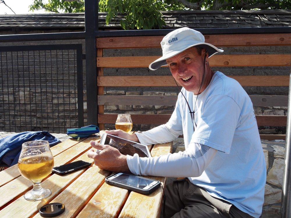 Planning the next passage at Fieldwork Brewery