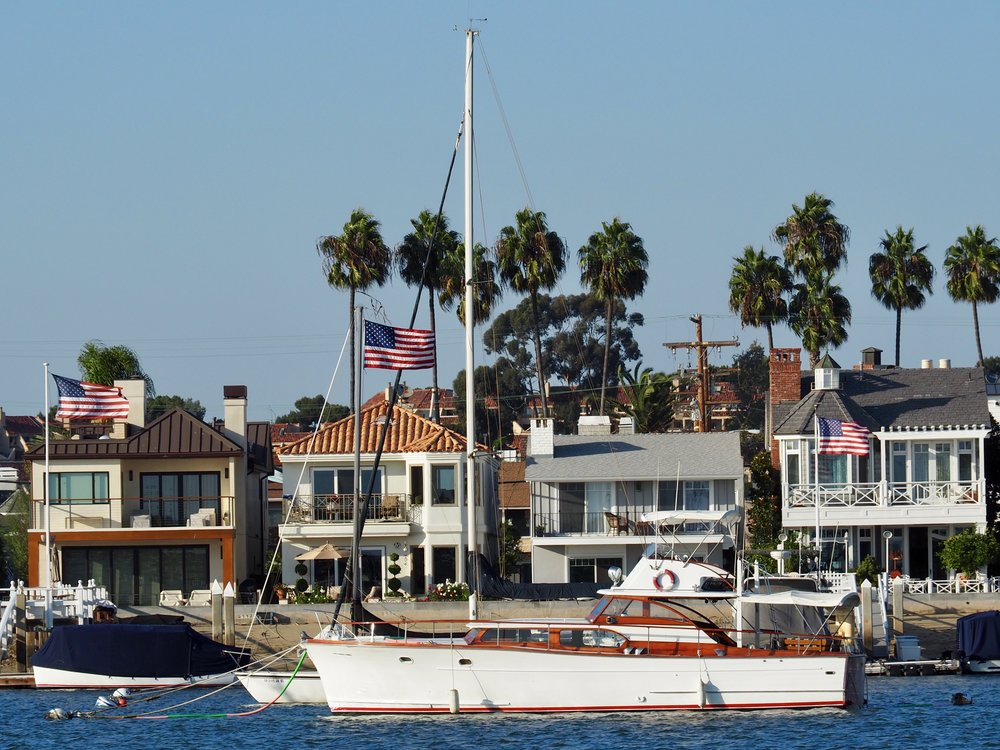 If you're looking for a place to park your next ten million bucks, you may wish to consider Newport. Just try not to buy a boat so tall it blocks the view from your house — a strategic error that appeared to be rampant in the mega yacht harbor.