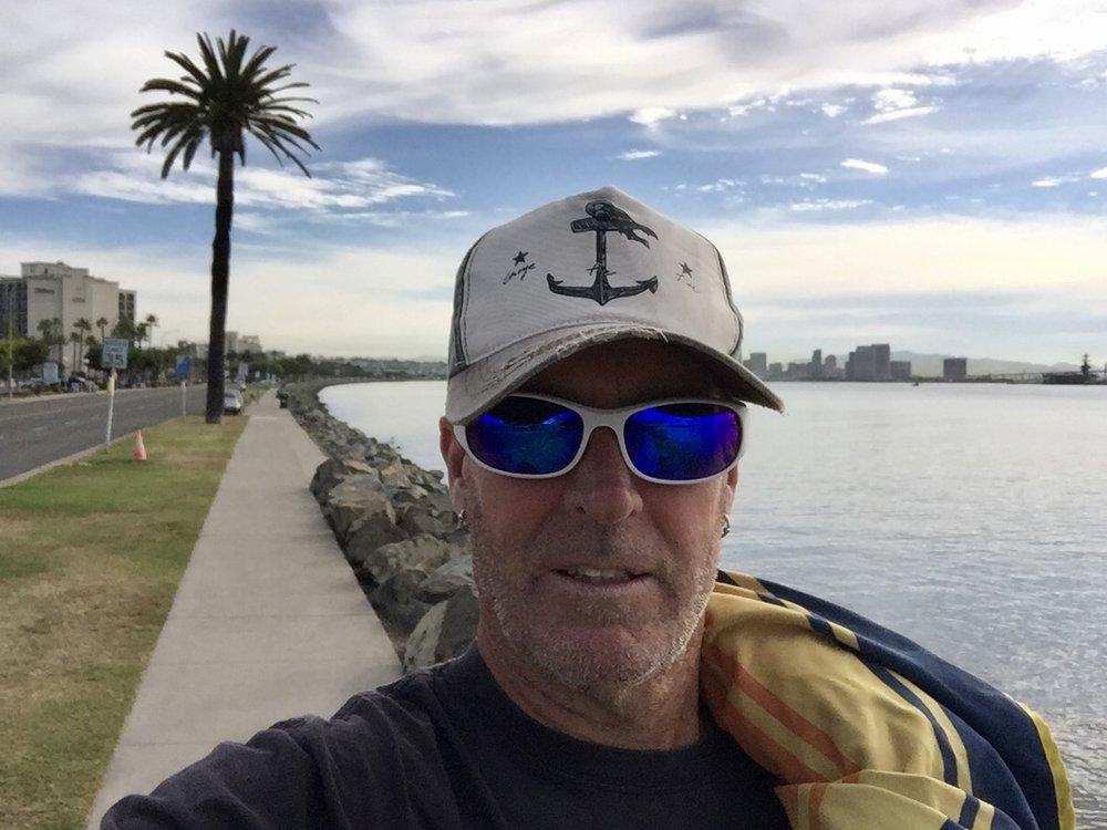 Morning walk, Shelter Island San Diego