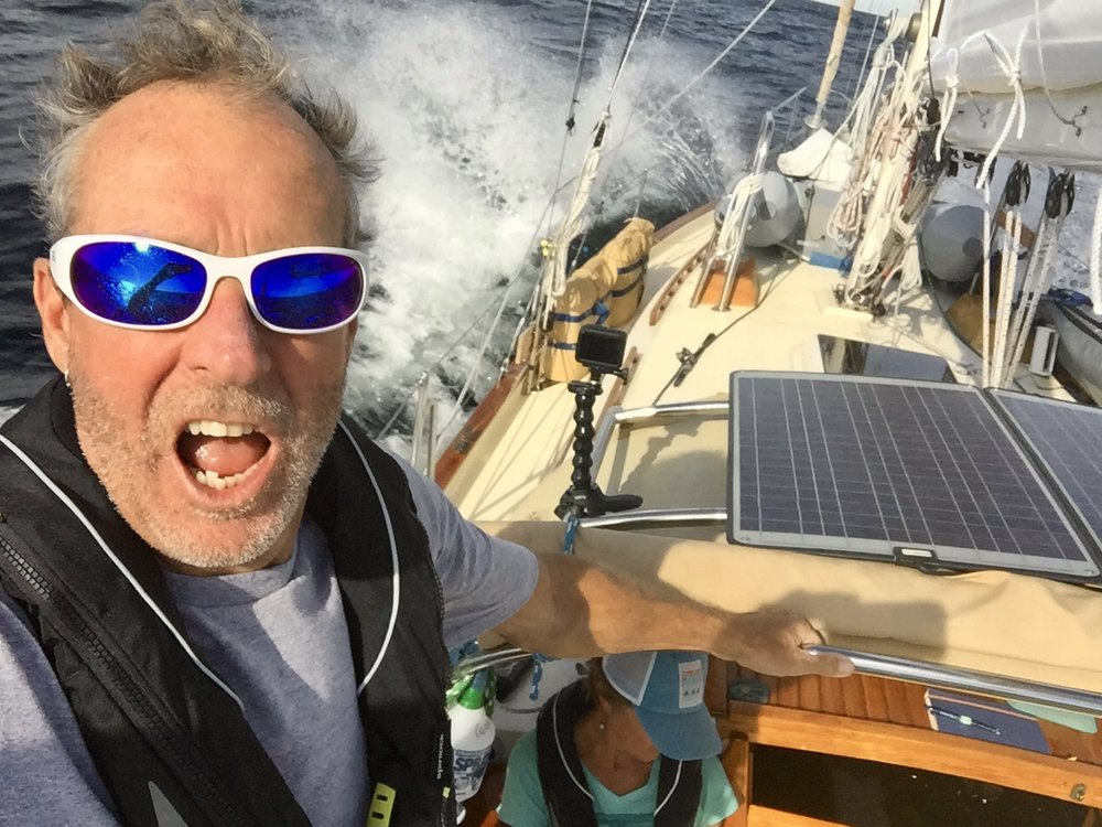 The sailing has been alternately gorgeous and seriously challenging