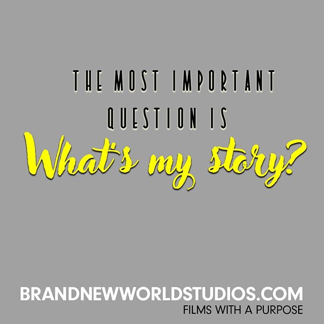 Each of us has a story to share to transform the world. #shareyourstory #findyourwhy #purpose #poweroffilm #brandnewworldstudios