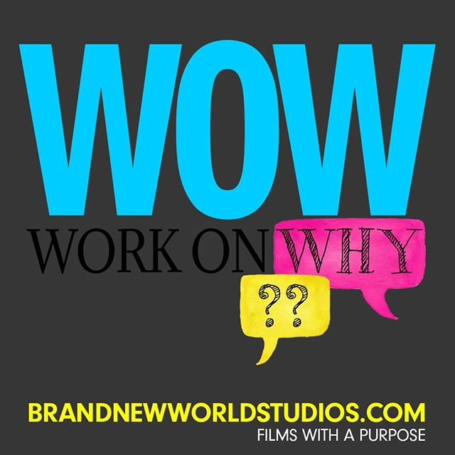 A wow affirms our beliefs and takes our breath away. Purpose tells us why we exist, and directs every single who, where, when, what , and why. Strategy created by why creates wow. #purpose #wowstrategy #workonwhy #brandnewworldstudios