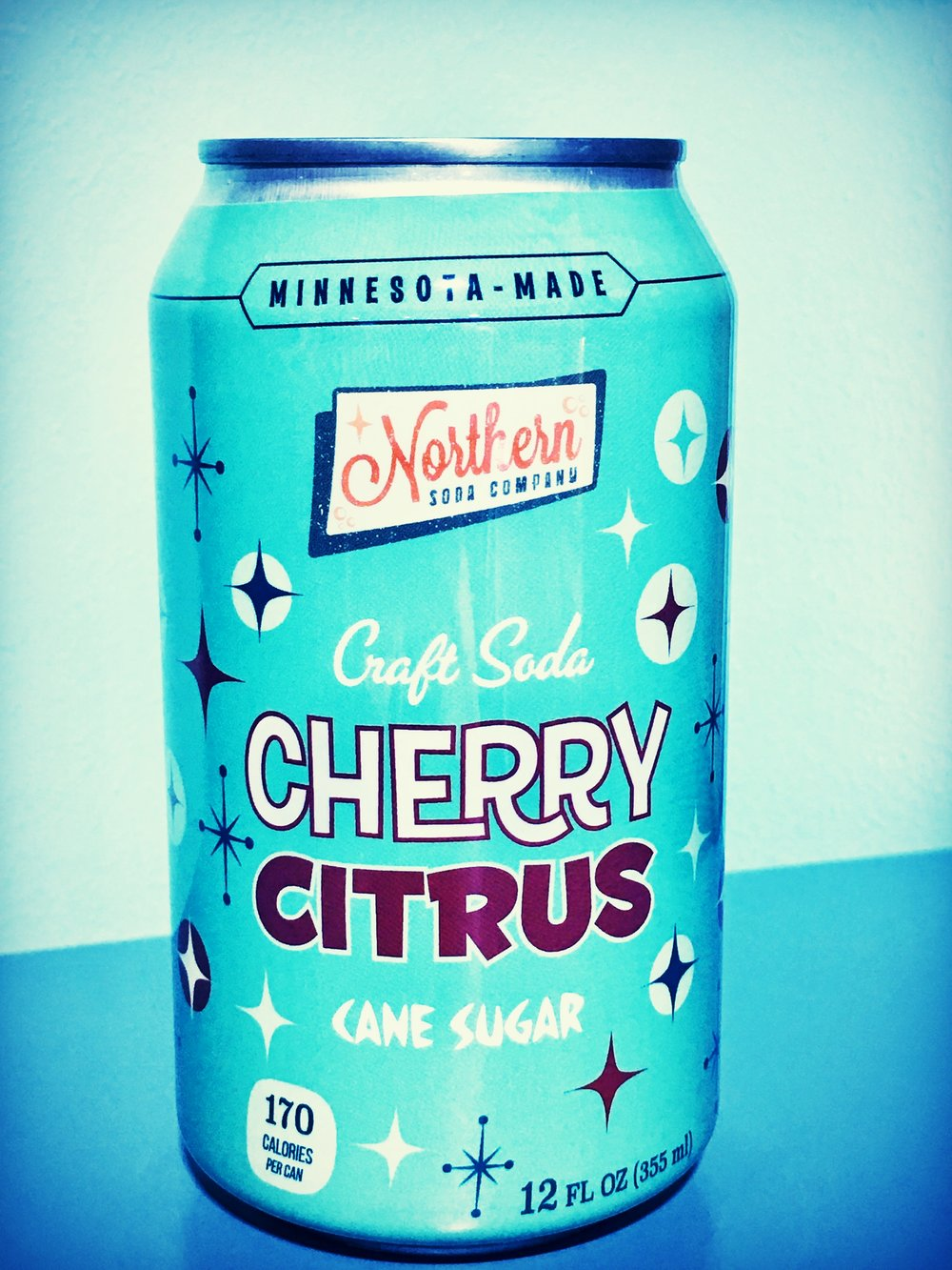 inspired by a 1950's sour recipe, this super citrusy soda packs a sour cherry punch!