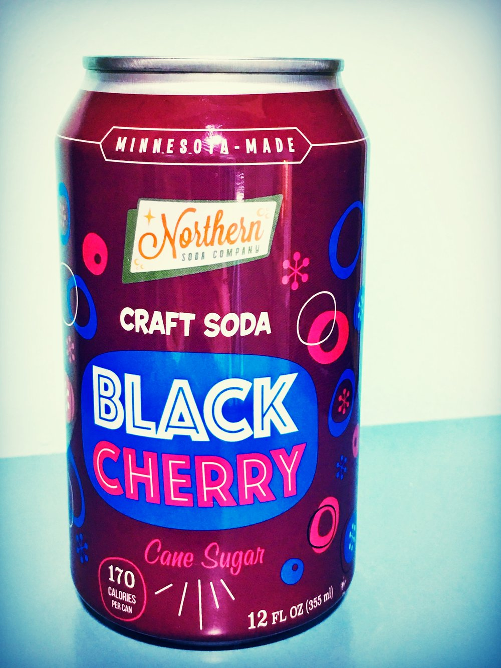 Northern's super popular black cherry soda is made with natural cherries and contains no artificial color. It is 1955 in a can!!