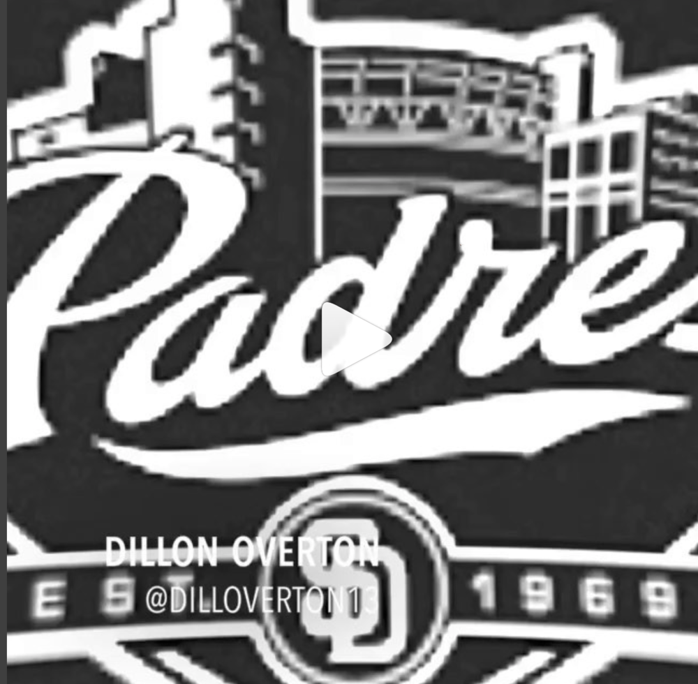 """Dillon Overton San Diego Padres - @dilloverton13""""The day baseball becomes a job instead of just having fun playing it, that'll be the day that I quit"""""""