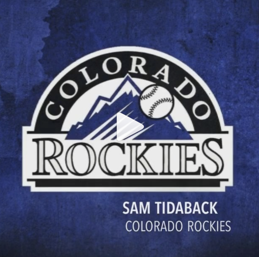 Sam Tidaback Colorado Rockies - @sammy_tee42