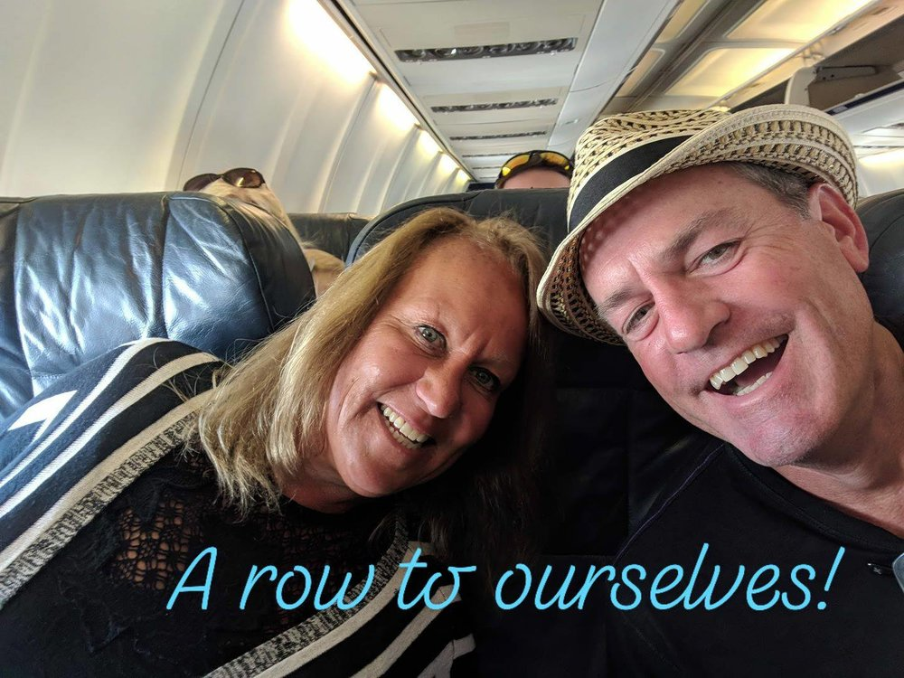 Getting ready to take off from Tampa to Grand Cayman