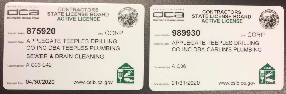We're State Certified! - Our company is fully licensed by the State of California