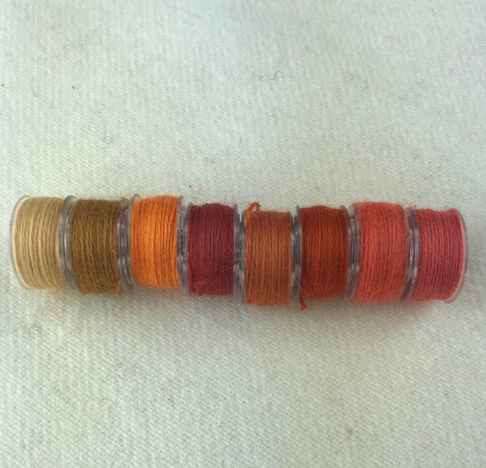 - Orange - Aurifil Wool Thread - 8 Assorted Colors