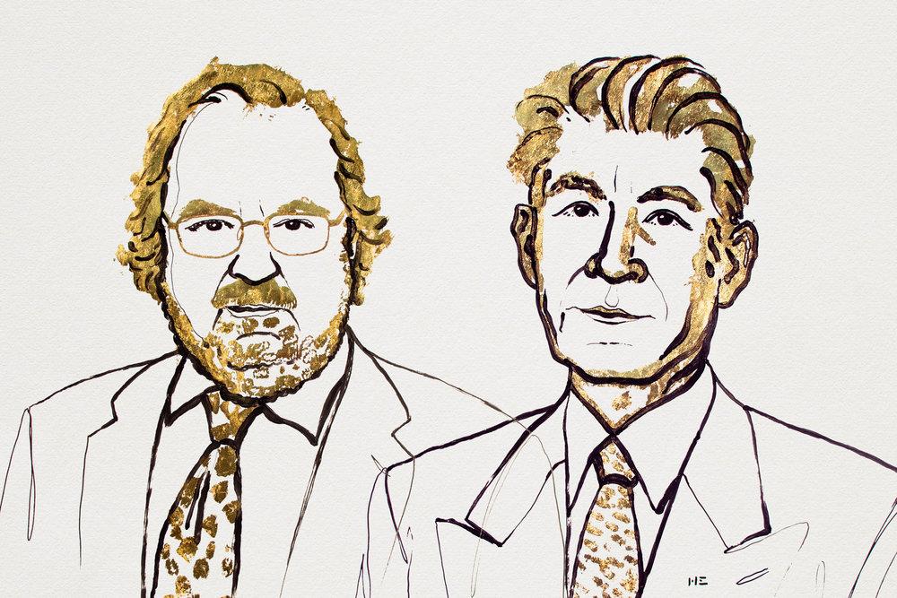 James P. Allison och Takusu Honjo. Illustration: Niklas Elmehed
