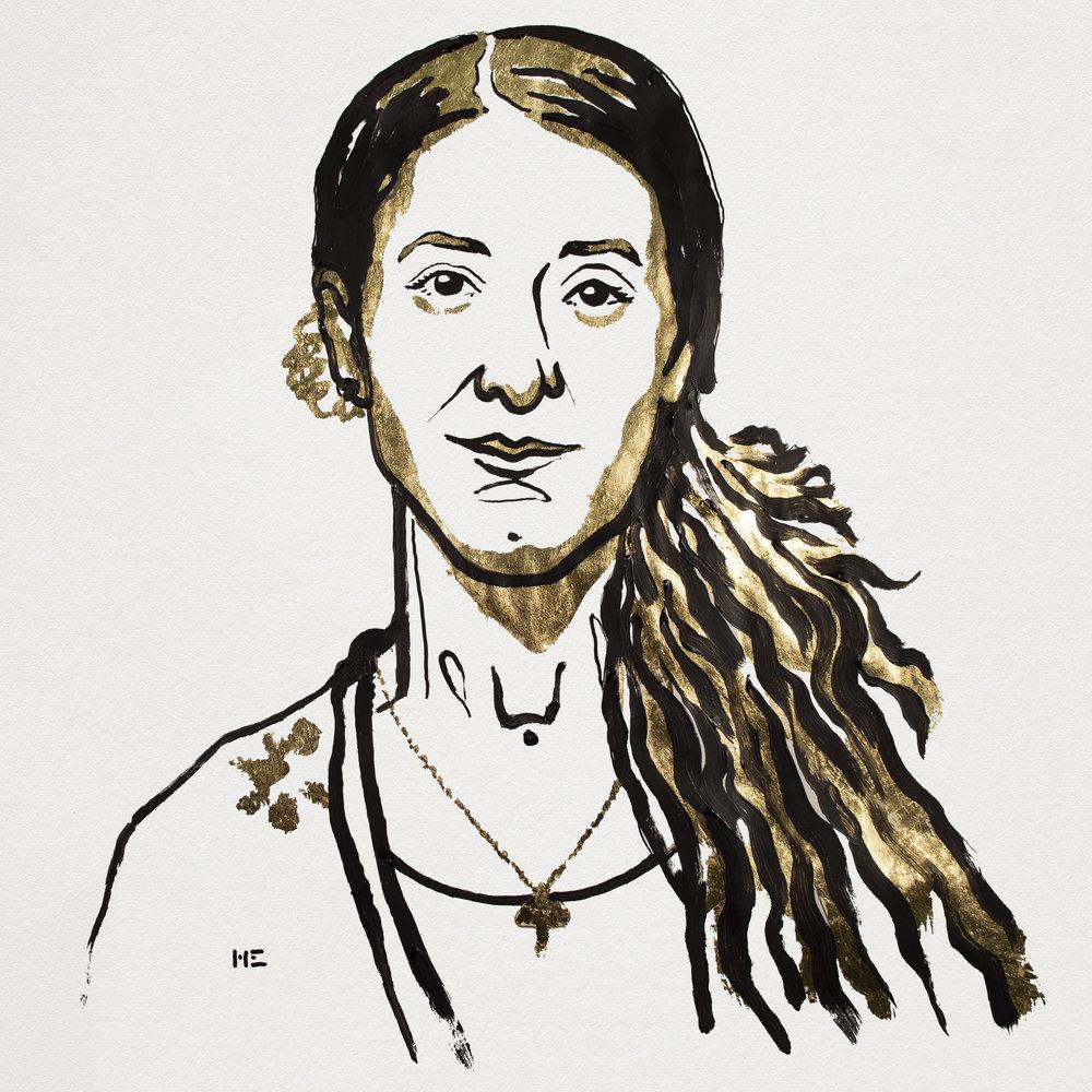 Nadia Murad. Illustration: Niklas Elmehed