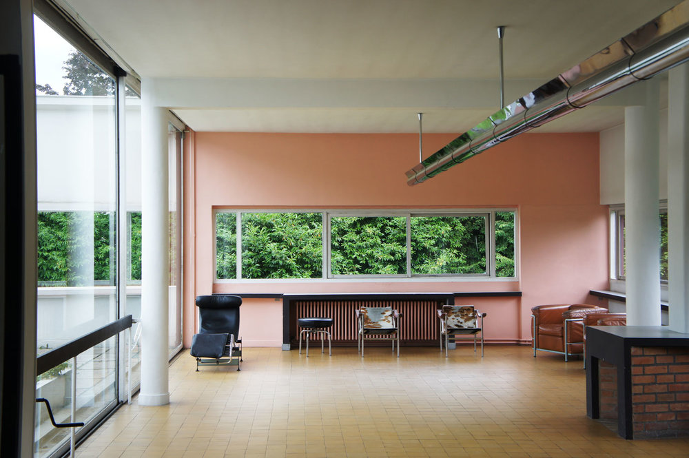 villa savoye living space photography by rost architects