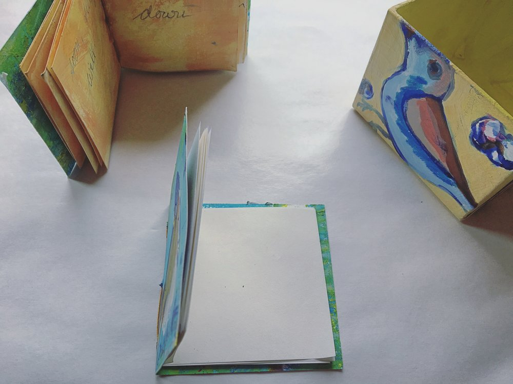 Kat's latest series, Bitty Box of Books. This is an interactive collectable!