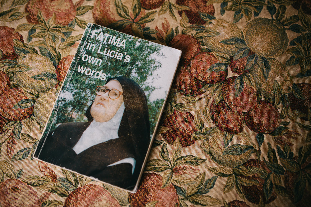 In Lucia's Own Words - Published in 1976 '' Fatima in Lucia's Own Words'' is a collection of memoirs and letters written by Sister Lúcia of Fátima, the last surviving seer of Virgin Mary apparitions in Cova da Iria, Fátima, Portugal. She fell asleep in the Lord on February 13th, 2005.The 13th date is significant to Catholics here as it was on the 13th of May the first apparition took place.