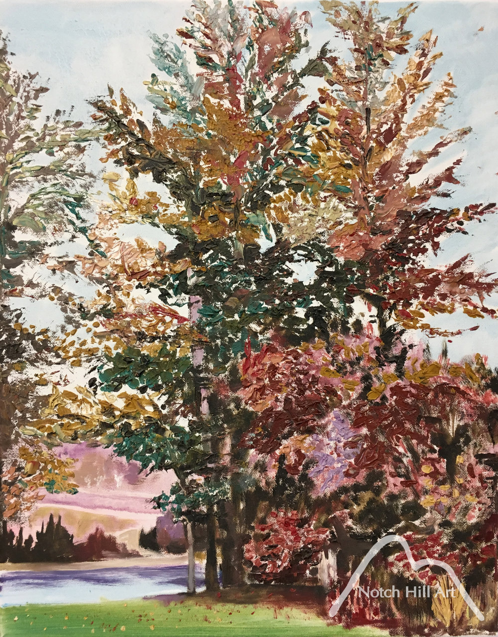 Autumn Trees by the Nechako