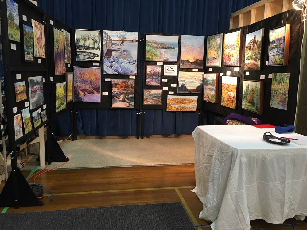 This photo shows the Notch Hill Art display.