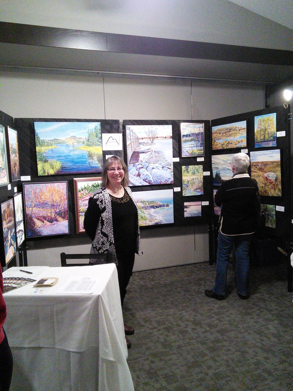 Standing at My Notch Hill Art Display Booth