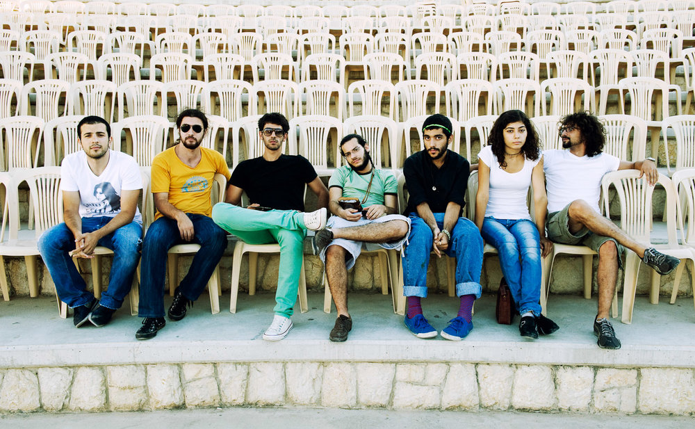 Mashrou' Leila, Lebanon 2009   2007 – 2017 Selected images  This body of work is the result of almost seven years of photographic documentation. The images offer insight into the manifold, mutating and increasingly visible alternative musical landscape in Beirut.    See also: Untitled Tracks: On Alternative Music in Beirut, book