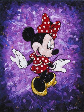 """Minnie's Polka Dot Dress"" 36x24"