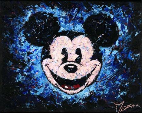 """""""Spotlight Mickey"""" 8x10"""