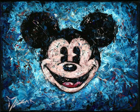 """Spotlight Mickey #2"" 8x10 (SOLD)"