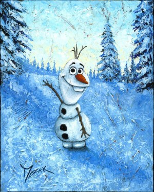"""Hello I'm Olaf"" 20x16 (SOLD)"