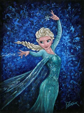 """Elsa's Magic"" 40x30 (SOLD)"