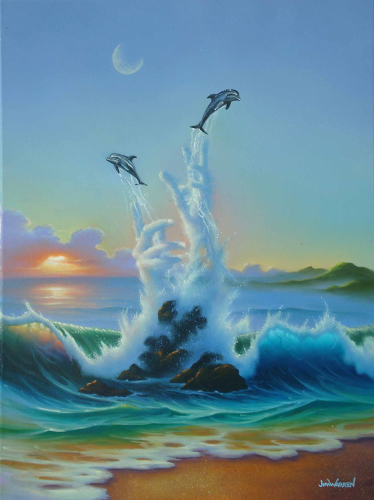 """The Playful Sea"""