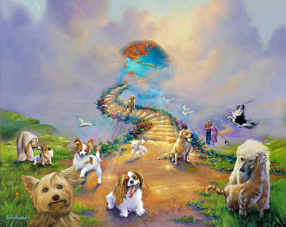 """""""All Dogs Go To Heaven Soft Sky"""""""