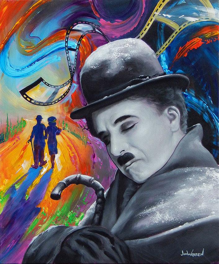 """""""Charlie Chaplin Dreams in Technicolor"""""""