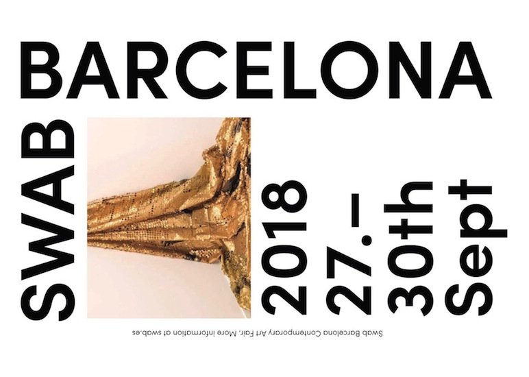 SWAB BARCELONA 2018 - We are thrilled to announce that Las Palmas will be part of Swab Barcelona Art Fair 2018 program, showing works of Aires de Gameiro, Nuno Ferreira, Pedro Cabrita Paiva and Primeira Desordem!+info: www.swab.es